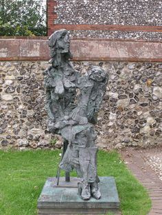 Norwich Cathedral - warped sculpture