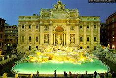 Trevi Fountain, Roma. My sister, daughters and I made sure to 'throw our coins in the fountain'. EVERY woman there imitated the movie. lol
