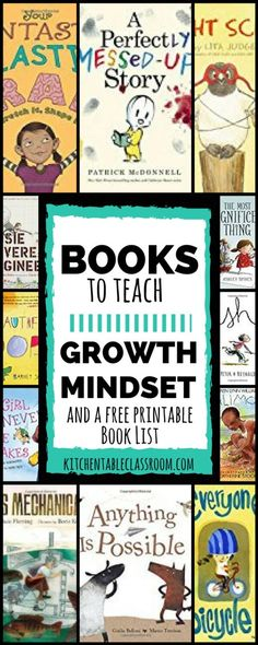 Opening your children's eyes to a growth mindset is a great way to inspire a love of learning. These growth mindset books will help do just that!