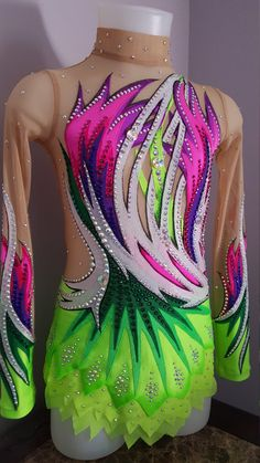Etsy の Competition Rhythmic Gymnastics Leotard by TaniaRGLeotards Rhythmic Gymnastics Costumes, Gymnastics Outfits, Acrobatic Gymnastics, Rainbow Costumes, Glitz Pageant Dresses, Figure Skating Costumes, Figure Skating Dresses, Ballroom Dress, Dance Outfits