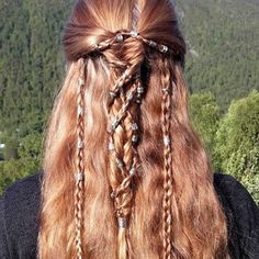 Top 60 All the Rage Looks with Long Box Braids - Hairstyles Trends Box Braids Hairstyles For Black Women, Braided Hairstyles For Black Women, Loose Hairstyles, Viking Hairstyles Female, Celtic Hair, Celtic Knot, Box Braids Pictures, Viking Braids, Mohawk