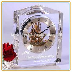 Check out this product on Alibaba.com APP personalized wedding anniversary crystal clock souvenirs gifts