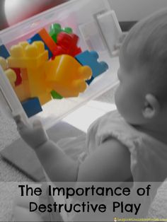 The importance of destructive play might not be obvious. It may look like your baby or toddler is simply destroying things, but she is actually learning. Infant Activities, Science Activities, Activities For Kids, Toddler Play, Baby Play, Toddler Stuff, Listening Games, Childhood Education, Early Education