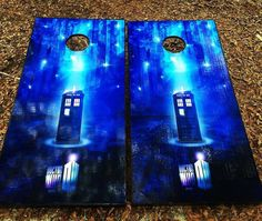 Dr. Who Cornhole Set With Bean Bags