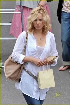 Rachel McAdams, Midnight in Paris...i was OBSESSED with her hair the entire movie!!!!!I need my hairdresser to see it ha