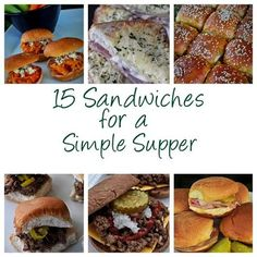 15 Sandwiches for a Simple Supper