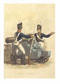 WELLINGTONS ARMY MILITARY UNIFORM PRINT ~ ROYAL ARTILLERY   eBay