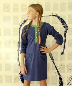 Another great find on #zulily! Blue & Green Knit Nikki Shirt Dress - Girls & Women by Kayce Hughes #zulilyfinds