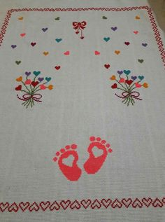 İsleme Crochet, Cross Stitch, Mad Men, Kids Rugs, Embroidery, Design, Decor, Diy, Craft