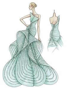 Fashion & Couture: Versace Sketches :)