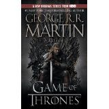 A Game of Thrones-- an insanely complex political thriller set in a fantasy world that finds itself with one throne and five contenders. You never know which of your favorite characters is going to die or which new favorite you might meet on the next page. It really is suspenseful in that way.