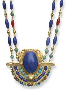 Egyptian Revival Necklace    Louis Comfort Tiffany, 1913    Christie's