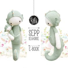 SEPP the seahorse lalylala crochet pattern / amigurumi