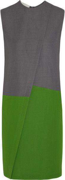 cedric charlier Colorblock Piqué Dress - Lyst