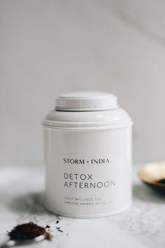 Tea Tins, Brand Packaging, Detox, Branding, Organic, Simple, Desserts, Food, Essen