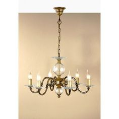 Lustrarte Lighting Classic Etrusca 6 Light Candle-Style Chandelier Finish: Antique Brass Mat
