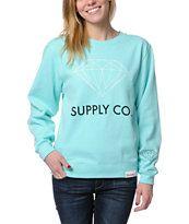 Diamond Supply Co. Blue Crew Neck Sweatshirt