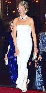 Afbeeldingsresultaat voor prinses diana in avond kleding