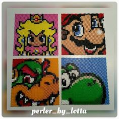 Super Mario set (31x31 cm each) perler beads by perler_by_lotta