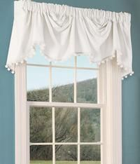 Classic Ball Fringe Perma-Press Lined Austrian Valance