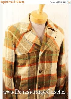 50% Off SALE Mens 60's Vintage Pelham Tan by DenasVintageCloset