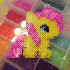 sandylandya@outlook.es  MLP Flutershy perler beads by rachel_liu