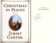 """JIMMY CARTER Hand Signed Memoir: """"Christmas in Plains"""" - UACC RD#289 in Collectibles, Autographs, Political 