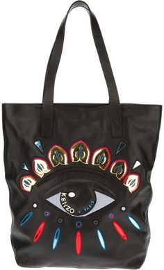3740c852db15 Women s Black Kenzo Eye Bag. Lyst