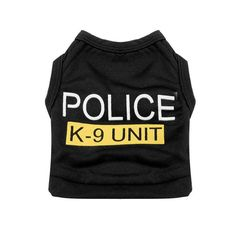 Small Dog Cat Vest Police Puppy T-Shirt Pet Clothes Summer Apparel Costumes Wholesale Hot search