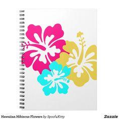 Hawaiian Hibiscus Flowers Notebook