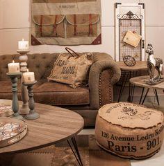 Decor loft style (canapeaua in stil Chesterfield o gasiti, desigur, la Retro Boutique): http://www.retroboutique.ro/mobila/canapele/canapea-havana-duo-2324