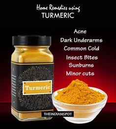 BEST 10 HOME REMEDIES USING TURMERIC