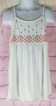 d2fc8b921e7 Arizona Girl s White Spaghetti Strap Tank Top Size 10 12  fashion  clothing