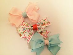 Set of 3 easter hair bows. https://www.etsy.com/listing/225381373/set-of-3-small-easter-spring-time-hair?ref=shop_home_active_3
