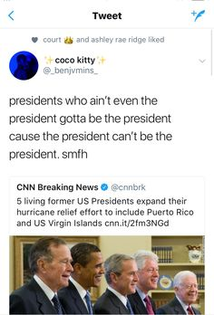 To clarify: they have Obama, the two bushes, Clinton, and jimmy carter. I thought they had Ronald Reagan because he was the president before Bush Senior. However, Reagan is dead but Carter is still around!---thanks for adding all of them! The More You Know, Look At You, Funny Memes, Hilarious, Humanity Restored, Faith In Humanity, Social Justice, Tumblr, Real Talk
