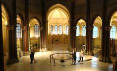 #Musée des Arts et Métiers 7, Paris. The former #priory church of Saint-Martin-des-champs now houses a museum with Foucault's #Pendulum in the #Gothic choir.