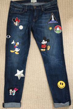 DIY: Disney Patched Denim Jeans