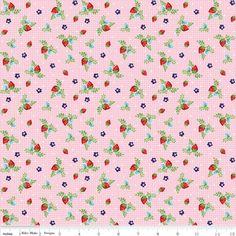 Tasha Noel - Vintage Market - Strawberries in Pink