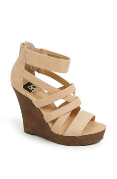 4718f79e601 BC Footwear Tell You What Wedge Sandal Pretty Shoes