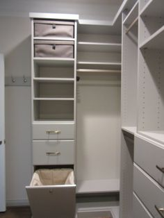 Closet Creations built this custom Master closet ! White Closet, Master Closet, Home Decor, White Cabinet, Decoration Home, Room Decor, White Armoire, Huge Closet, Wardrobes