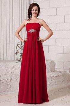 2013 Bridesmaid Dresses A Line Empire Waist Strapless Floor Length Chiffon GBP 66.35 BFP55QLGSS - BlackFridayDresses.com