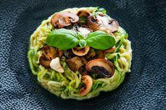 Zucchini Pasta an Avocado Creme