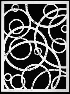 StencilGirl Products carries a wide selection of stencils featuring many varieties of circles. Shop our stencils today to find the perfect circle designs for use in your art journaling, mixed media artwork, or papercrafting. Shop for stencils today! Stencils, Stencil Templates, Stencil Patterns, Stencil Designs, Embroidery Patterns, Hand Embroidery, Bird Stencil, Stencil Art, Damask Stencil