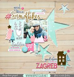 Single page ~ one photo; star cutout ; winte