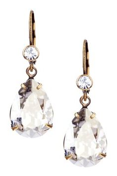 Swarovski Crystal Teardrop Earrings