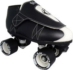 Vanilla Junior Tuxedo Speed Skates-This skate offers a lot of class and a heaping dose of style. Inspired by Brandon Perea, the world's most popular professional skater and features a strong, fully stitched rubber outsole and super tough skate shoe lining -Use these skates for roller derby, speed and jam skating, and rink skating. Equipped with super light Backspin Tuxedo Wheels that come with a lifetime warranty