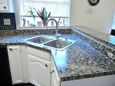 Faux Finish Granite Countertops in 8 Easy Steps