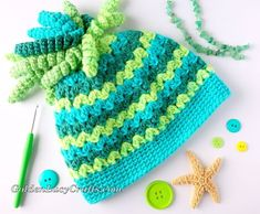 Spiral Top Messy Bun Hat, free crochet pattern - GoldenLucyCrafts