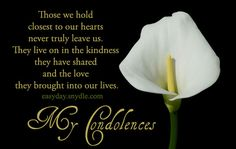 Deepest Condolences Messages for Cards and Flowers