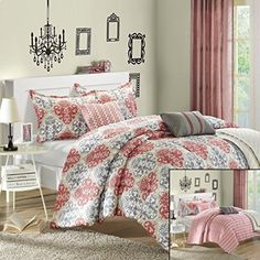 Chic Home Venetian 6-Piece Luxury Reversible Comforter Set with Quilt, Shams and Decorative Pillows, Queen Size, Printed